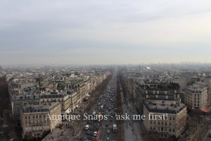View from Champs Elysee in Paris, France