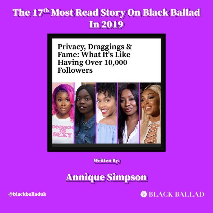 Top 20 read article on Black Ballad