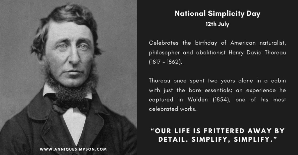 national simplicity day history
