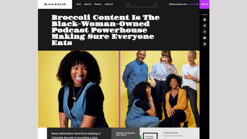 Broccoli Content Is The Black-Woman-Owned Podcast Powerhouse Making Sure Everyone Eats